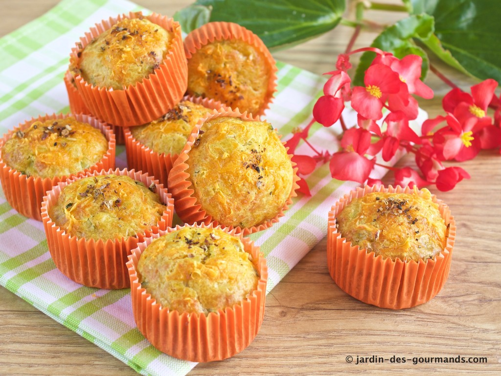 Muffins courgettes, curry, mimolette 2