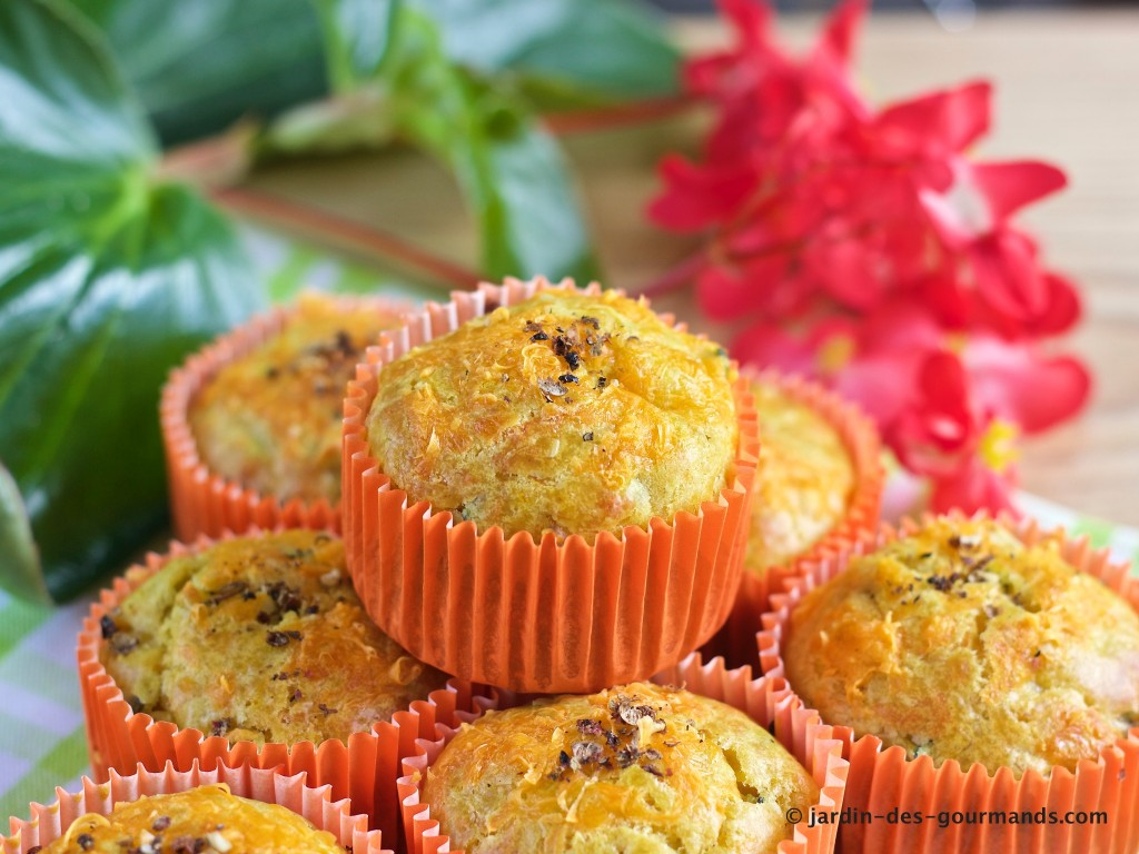 Muffins courgettes, curry, mimolette 3