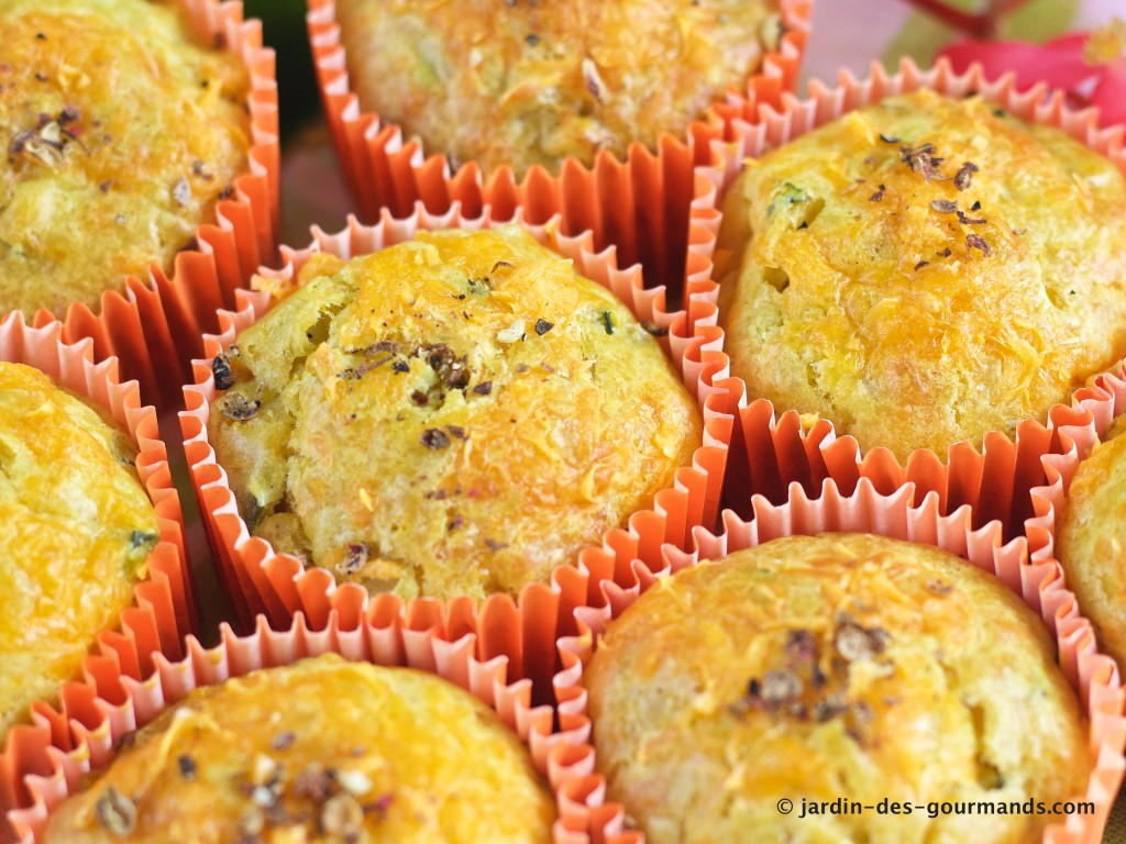 Muffins courgettes, curry, mimolette 5
