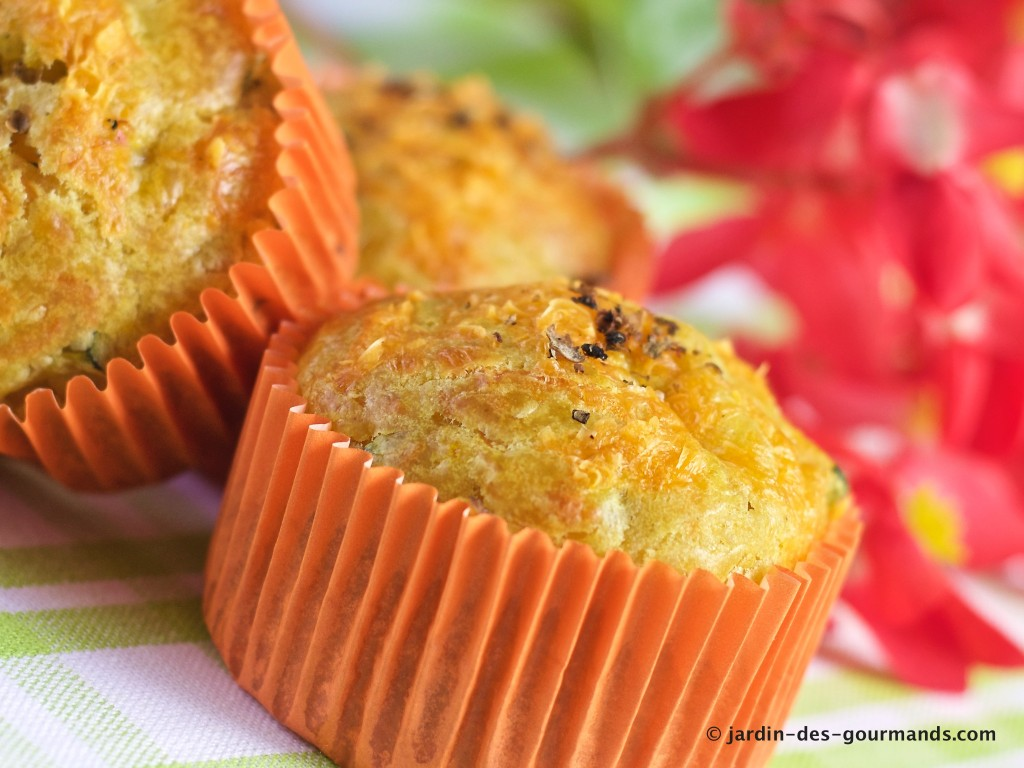 Muffins courgettes, curry, mimolette 6