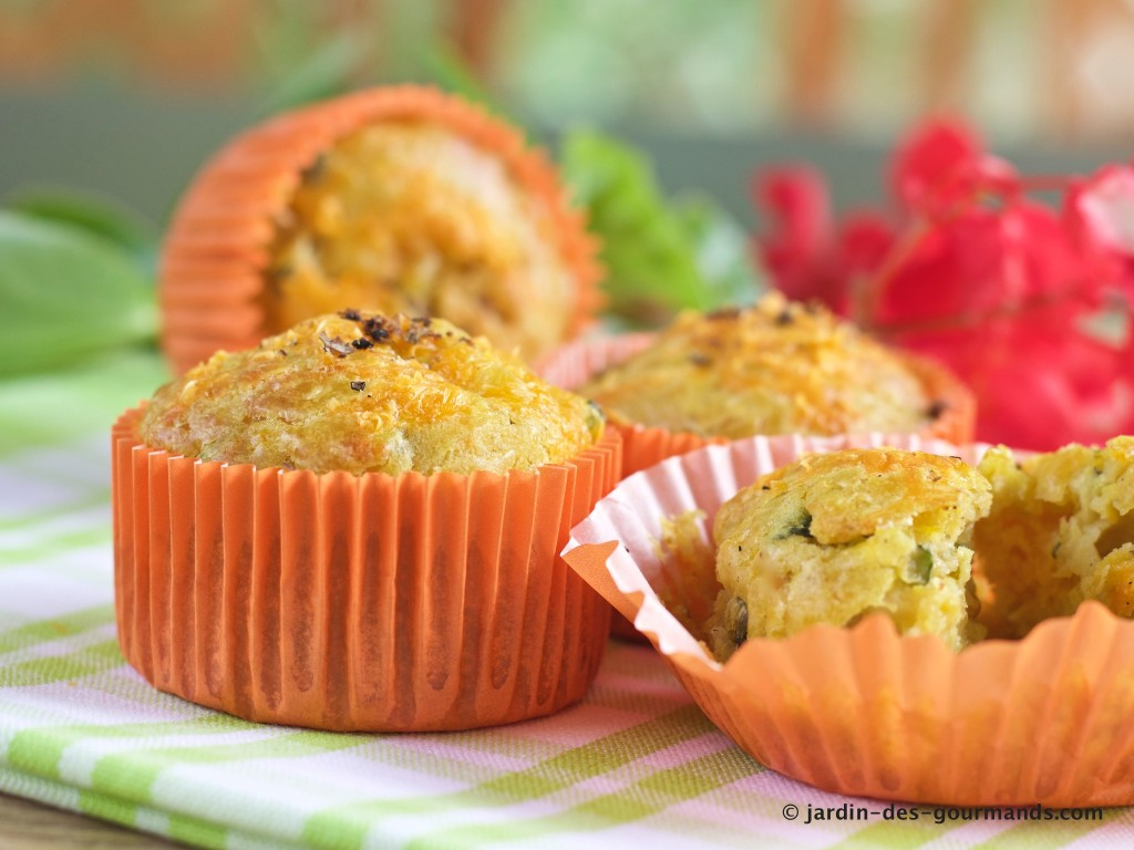 Muffins courgettes, curry, mimolette 8